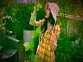 可愛い - Cute Teen Girl - Yellow Dress - Garden - SoCute.Asia